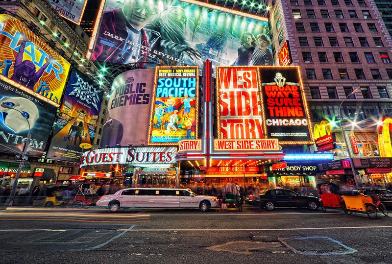 Warst du schon einmal am Times Square?